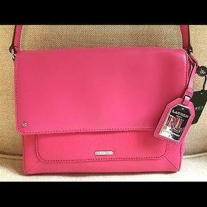 Ralph Lauren Crossbody Bag Pink Leather Messenger